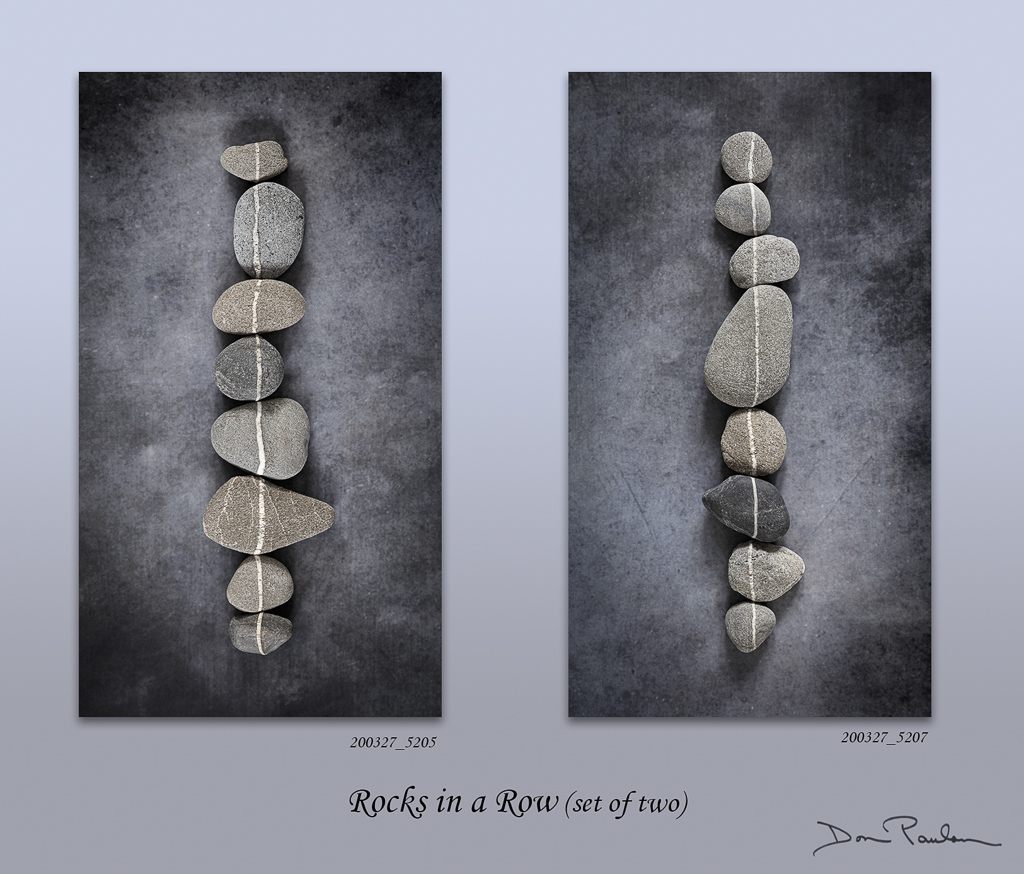Rocks in a Row (set of two)