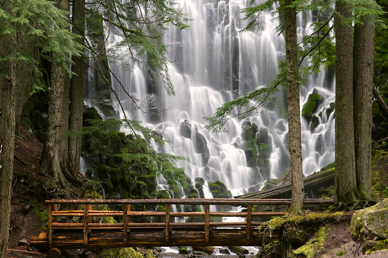 Ramona Falls and Bridge, Mount Hood, Oregon