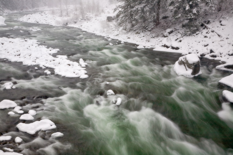 Wenatchee River in Winter, Washington