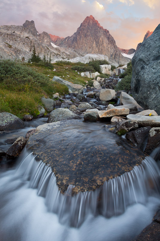 Stream, Mount Ritter near Ediza Lake, Ansel Adams Wilderness, Inyo National Forest, California