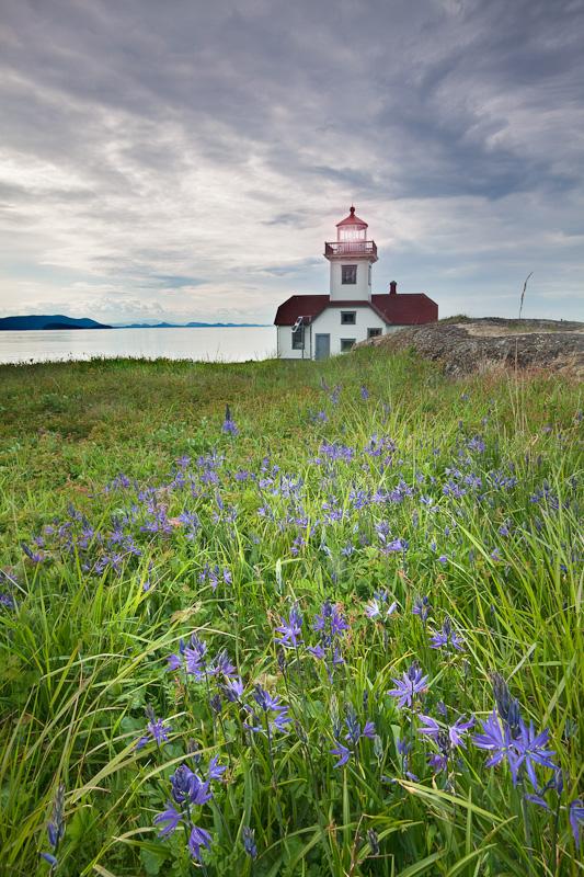 Washington; San Juan Islands; Patos Island Lighthouse and Camas