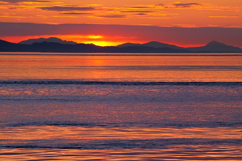 Washington; San Juan Islands; Patos Island; Sunset