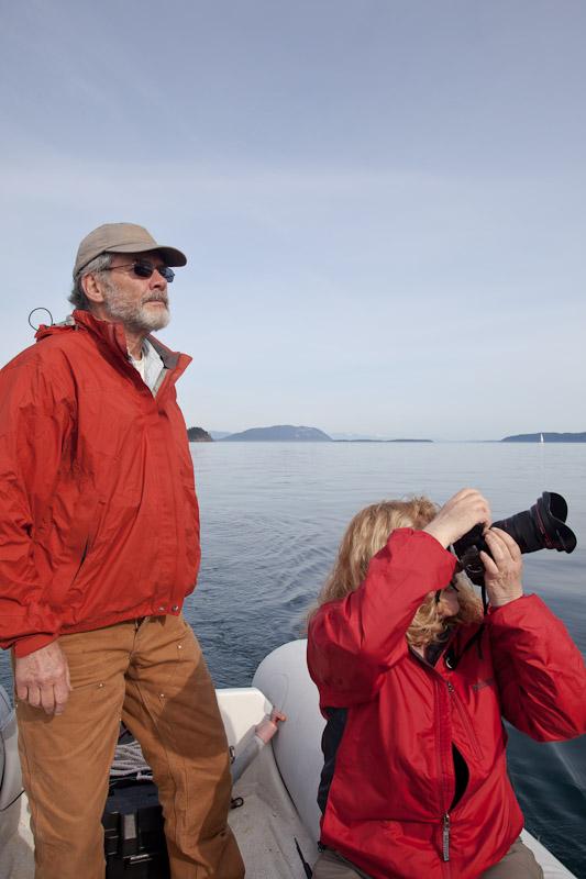Linda Brown & Tom Weiner in the San Juan Islands