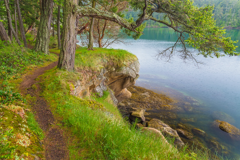Hiking on Sucia Islands, San Juan Islands, Washington