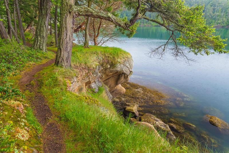 Hiking on Sucia Islands, San Juan Islands, Washington
