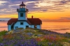 Sunset, Patos Island Lighthouse, San Juan Islands, Washington