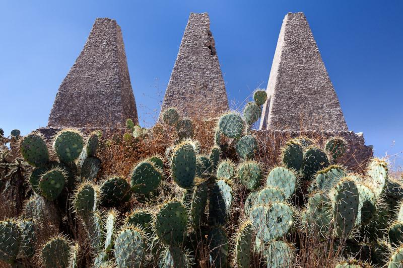 Santa Brigida mine ruins, ovens,  Mineral de Pozos, Guanajuato, Mexico