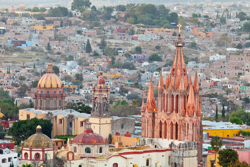 View of the city, San Miguel de Allende, Guanajuato, Mexico