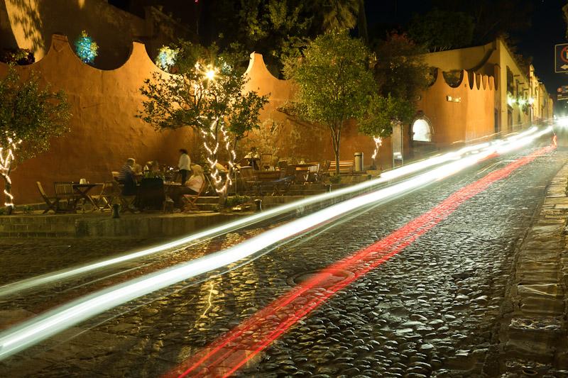 Night scene, San Miguel de Allende, Guanajuato, Mexico