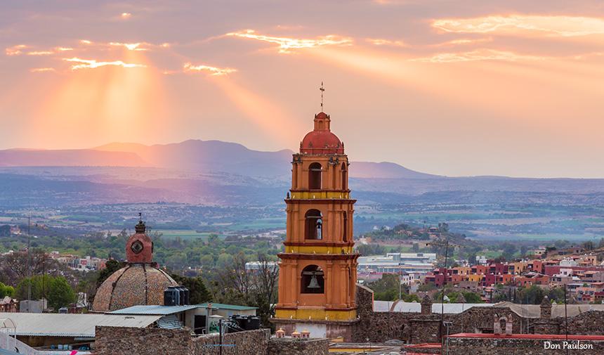 Sun Rays over San Miguel de Allende, Mexico