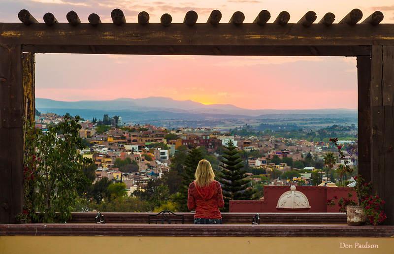 Taking in Sunset, San Miguel de Allende, Mexico