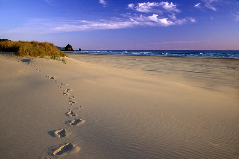 Footprints, Canon Beach, Oregon