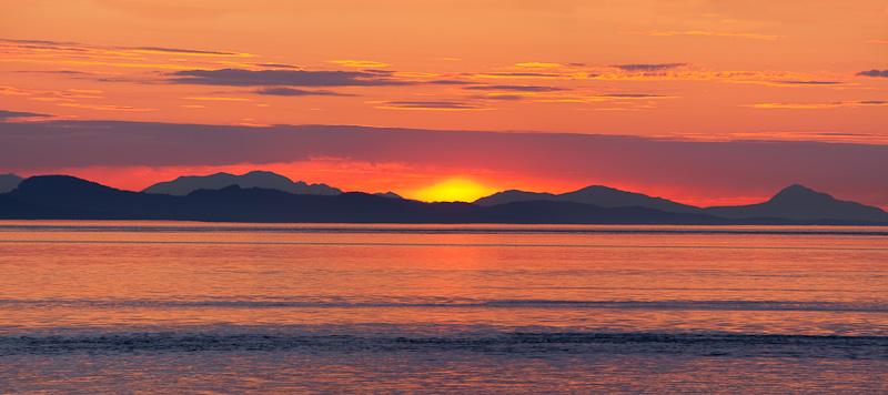 Washington; San Juan Islands; Sunset from Patos Island