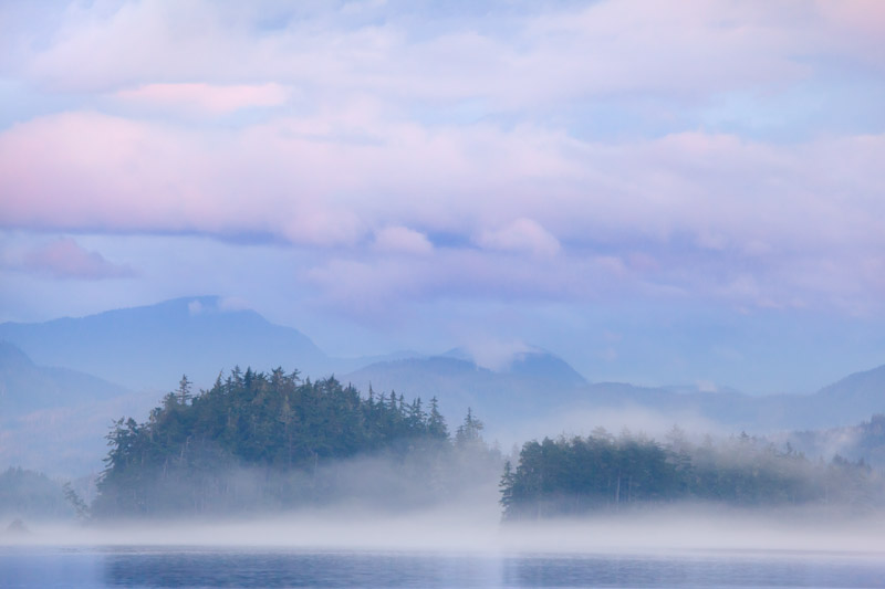Pastel Scene; British Columbia; Broughton Islands; Village Island