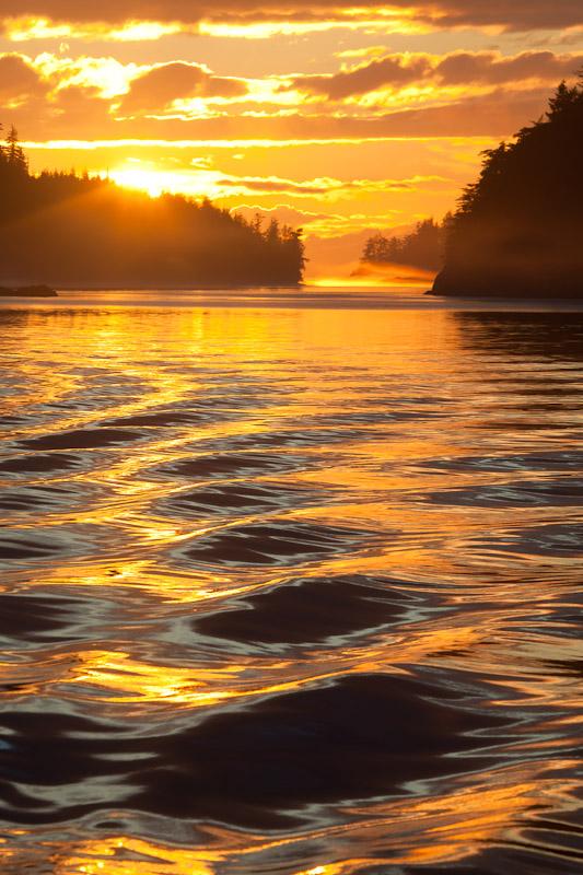 Boat Wake; British Columbia; Broughton Islands; Village Island