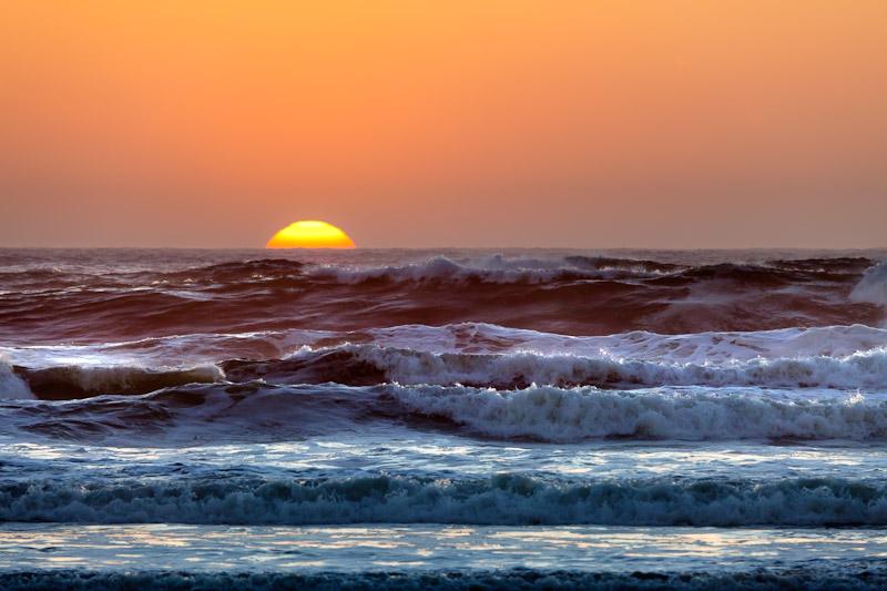 Oregon Coast; Devil's Punchbowl State Natural Area; Sunset