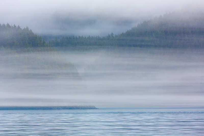 layers of fog, Inian Island area, Southeast Alaska (near Elfin Cove)