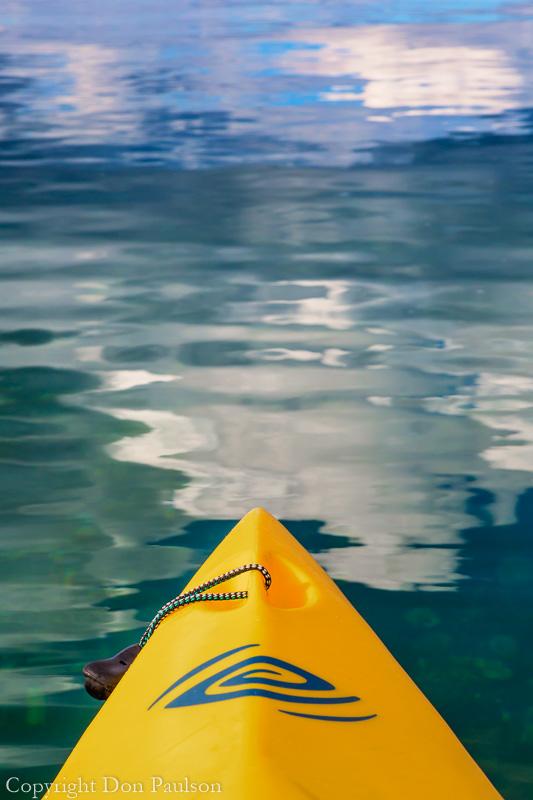 Kayak on Hood Canal near Seabeck, Washington