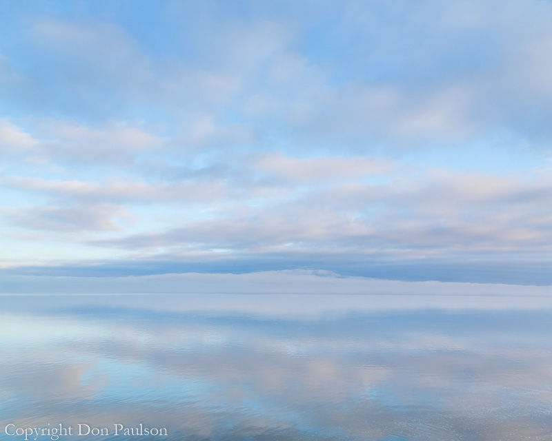 Winter Sunrise mirrored in Hood Canal