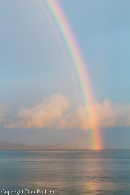 Rainbow over Hood Canal, Washington