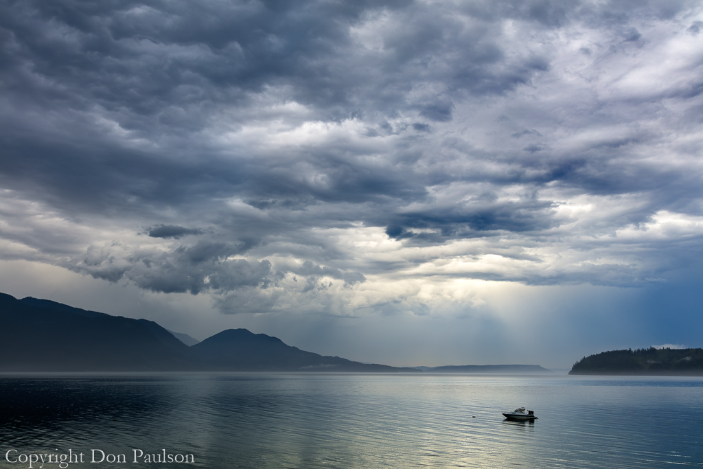 Storm Clouds over Hood Canal, Washngton, Seabeck