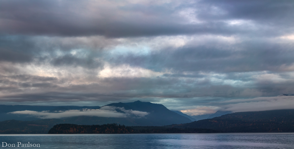 Cloudy evening on Hood Canal - Washington, Seabeck.