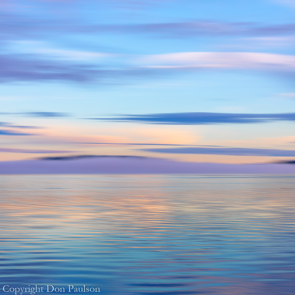 Fantasy Seascape 6870 - Washington, Hood Canal - High Resolution composite image (square format)