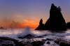Sunset, Rialto Beach, Olympic National Park, Washington