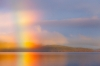 Sunrise Rainbow over Hood Canal, Seabeck, Washington