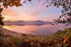 Fisheye Sunset Mirrored in Hood Canal