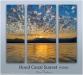 Hood Canal Sunset #4060 Triptych