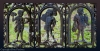 Details of an wrought iron gate in the cemetery on the grounds around the Presbyterian Church on Edisto Island, South Carolina, The church was founded in 1685-1695