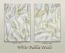 White Dahlia Petals diptych