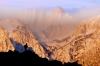 Hiker, Mount Whitney from Alabama Hills, near Lone Pine, California