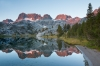 The Minarets and Ediza Lake, Ansel Adams Wilderness, Inyo National Forest, California