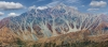 Artistic rendition of St. Elias Mountains - Canada, Yukon Territory. High resolution, multi-image panorama