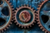 Heavy machinery gears - Canada, British Columbia, Fort Nelson Heritage Museum