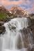Waterfall and Mountain, Yoho National Park, British Columbia
