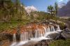 Waterfall over Red Rock, Yoho National Park, British Columbia
