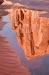 Lake Powell; Ribbon Canyon; a pool reflecting a sunlit mountain