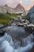 Stream, Mount Ritter near Ediza Lake, Ansel Adams Wilderness, Inyo National Forest, California