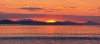 Washington; San Juan Islands; Sunset from Patos Island